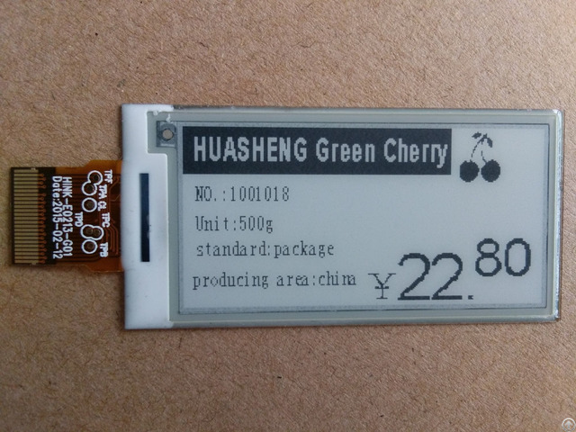 E-paper Display Of 2.13 Inch For Electronic Price Tag