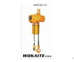Wokaite 2 Ton Type Suspended Electric Chain Hoist For Gantry Crane