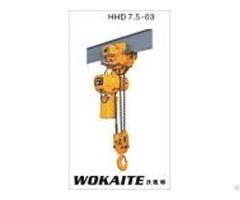 Wokaite Electric Chain Hoist 7 5 Ton With Good Quality