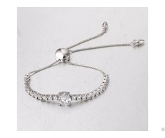 Bracelet Jewelry Made In 925 Silver With Zirconia