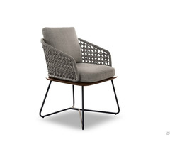 Contemporary Wooden Metal Armchair