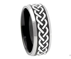Tungsten Carbide Celtic Wedding Band Ring