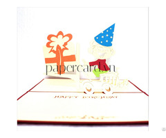 My Birthday 3dcard Popupcard Origamiccard Kirigamicard Birthdaycard Congratulationscard