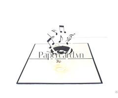 Music 3dcard Popupcard Origamiccard Kirigamicard Birthdaycard Congratulationscard Ninrio