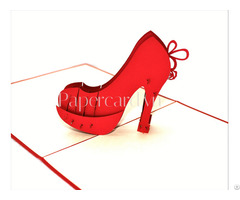 High Heel 3d Card