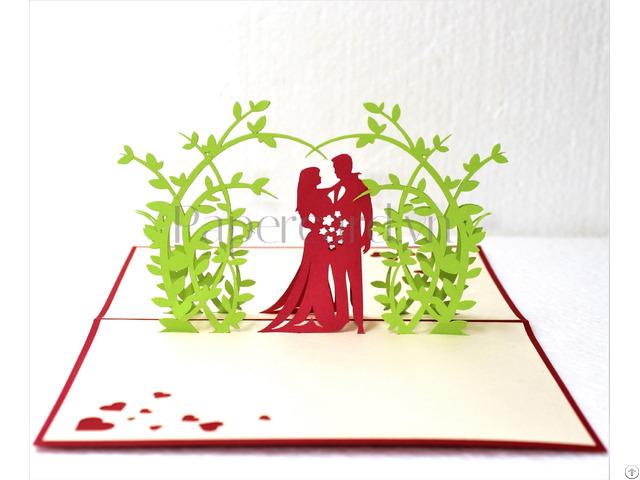 Happy Ending Pop Up Wedding Card