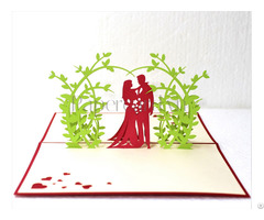 Happy Ending Pop Up Wedding Card