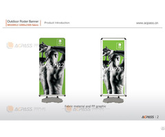 Outdoor Poster Banner Wgs9912 2300x1000mm