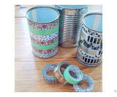 Waterproof Custom Printed Colored Gold Foil Sticky Washi Paper Tape