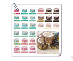 25mm Wide Spring Blossom Custom Washi Tape For Diy Decorate Gift Wrapping