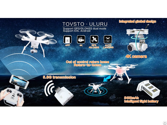 Three Axis Gimbal Fpv Drones With 16 Mega Pixels Camera Airplane Wifi App