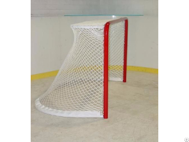 Hockey Net With Red Steel Frame