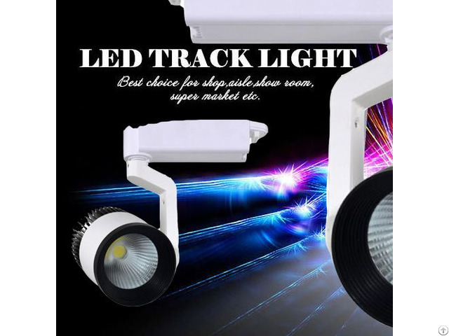 Ce Rohs Certificate 2 3 4 Wires 20w 30w 40w 50w Cob Led Track Light