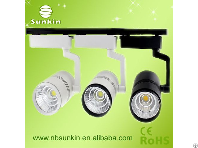 Single Arm Design Lifetime 40000hours 30w Led Aluminum Shell Track Light