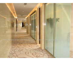 Soundproof Artistic Hotel Corridor Glass Partition