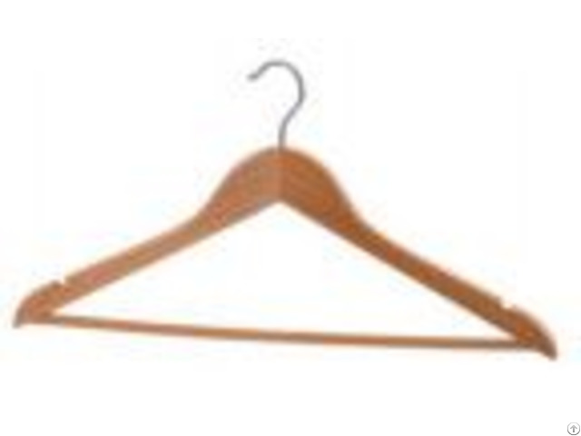 Natural Clothes Hanger With Wooden Round Bar