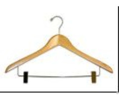 Deluxe Suit Hangers With Metal Bar And Padded Clips