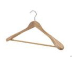 High Class Maple Wooden Coat Hanger With Fashion Shoulder Parts