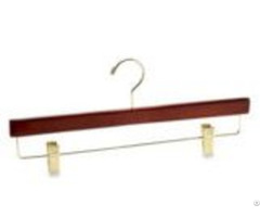 Wooden Trouser Pant Hanger With Metal Clips