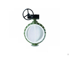 Stainless Steel Flanged Butterfly Valve With Ptfe