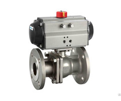 Pneumatic Stainless Steel Flange Ball Valve Bkvalve