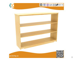 Kindergarten Pinus Sylvestris Furniture Children S Three Layers Toy Cabinet