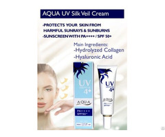 Aqua Uv Silk Veil Cream Natural Sunscreen With Spa50 Made In Japan