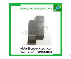 New Design Small Brown Folding Cardboard Paper Box For Cosmetic Bbcream Lipstick Lip Balm