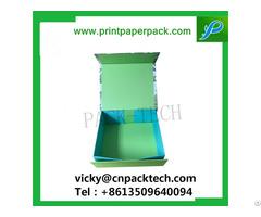 Customized Ribbon Hinged Closure Easy Stock Cardboard Cosmetic Paper Box