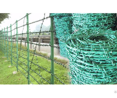 Barbed Wire Fence For Transmission Line Towers Safety