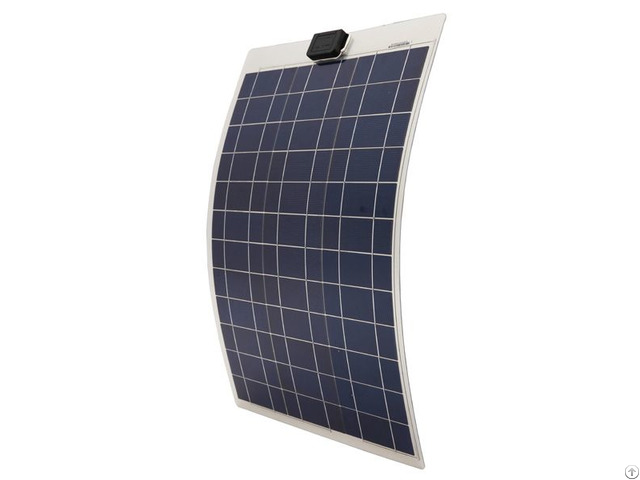 Waterproof 50w 12v Semi Flexible Poly Solar Panel With 1 4m Cables