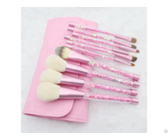Premium Synthetic Foundation Powder Concealers Eye Shadows Crystal Handle Makeup Brush Set