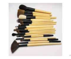 Synthetic Foundation Blending Blush Makeup Brush Set With Bamboo Handle