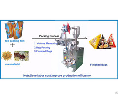 Triangle Bag Packing Machine For Snacks