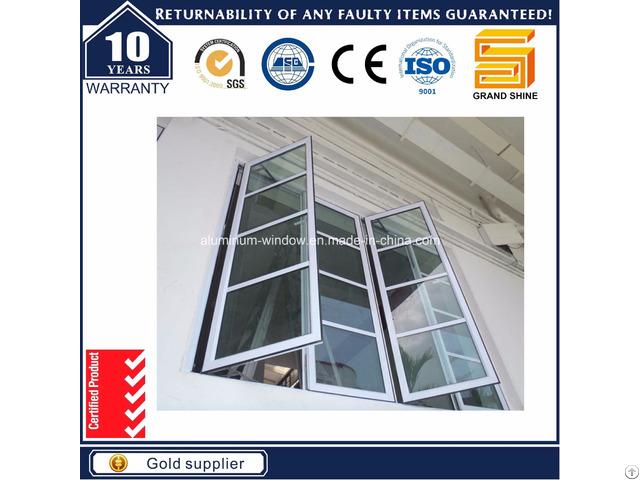 Thermal Break Aluminum Aluminium Casement Tilt Awning Glass Bay House Window Cw50