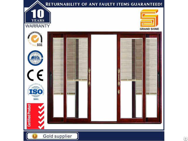 Aluminum 7150 Series Sliding Door With Fly Screen Netting