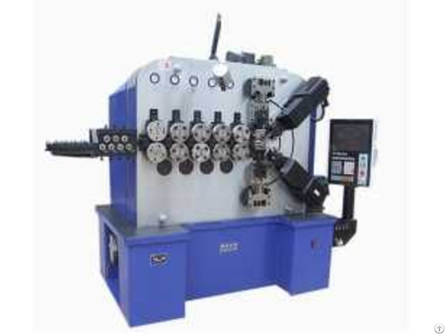 Product 6 Axles High Speed Compression Spring Forming Machine For 3mm 10mm Wire