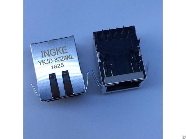 Jxr0 0011nl 1 Port Through Hole 10 100 Base T Tab Down Rj45 Magnetic Modular Jacks