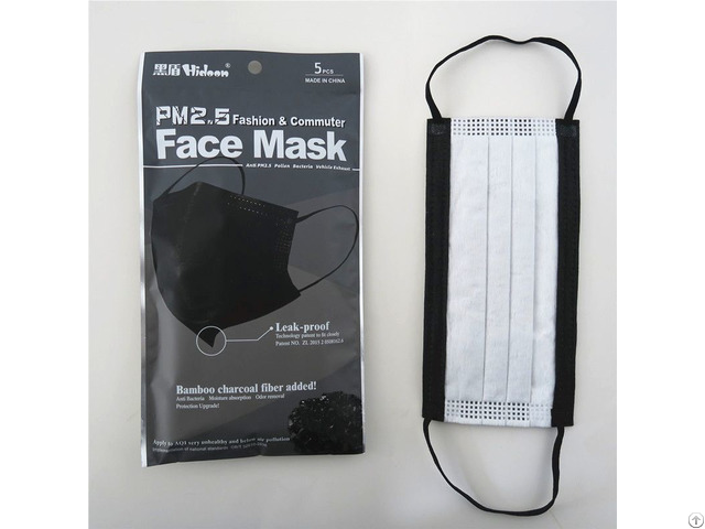 Disposable 3ply Black Non Woven Face Mask