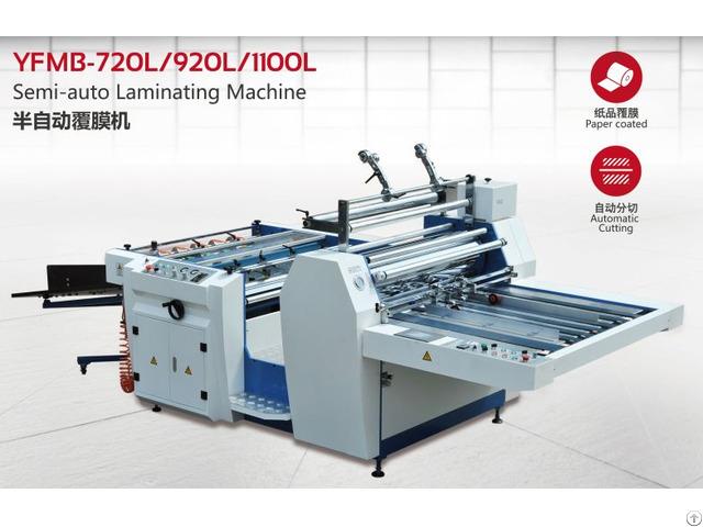 Improved Semi Auto Laminating Equipment Model Yfmb L