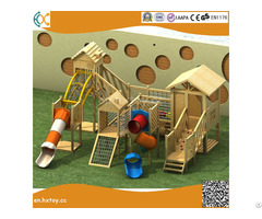 Amusement Equipment Outdoor Playground Wooden And Plastic Slide