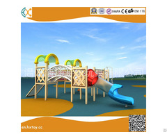 Amusement Equipment Outside Playground Wooden Slide