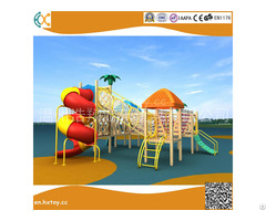 Amusement Equipment Outside Playground Wooden Plastic Slide
