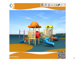 Outside Playground Amusement Equipment Large Wooden Slide