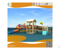 Amusement Equipment Wooden Outside Playground Slide