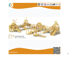 Amusement Equipment Wooden Outdoor Playground Slide
