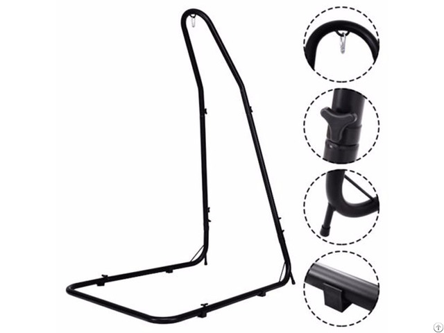 Adjustable Solid Steel Construction Hammock Chair Stand For Swings