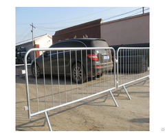 Hot Dipped Galvanized Metal Pipe Crowd Control Barrier