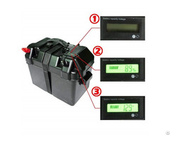 100ah 12v Black Battery Box With Lcd Screen For Marine And Rvs Batteries