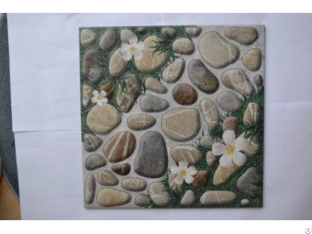 Antiskid Small Minqing Ceramics Pastoral Pebble Non Slip Floor Tiles For Garden